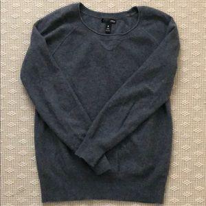 Aqua Bloomingdales brand gray cashmere sweatshirt